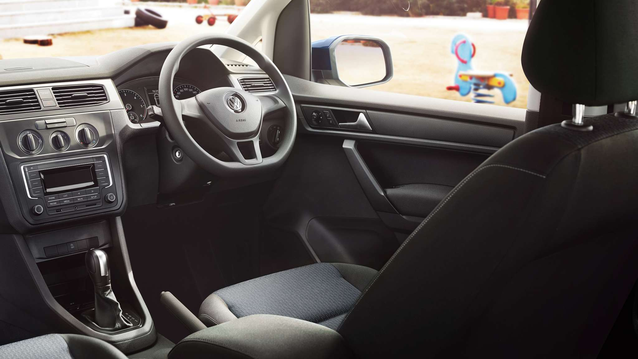 VW Caddy Trendline and Alltrack cockpit of the highest quality