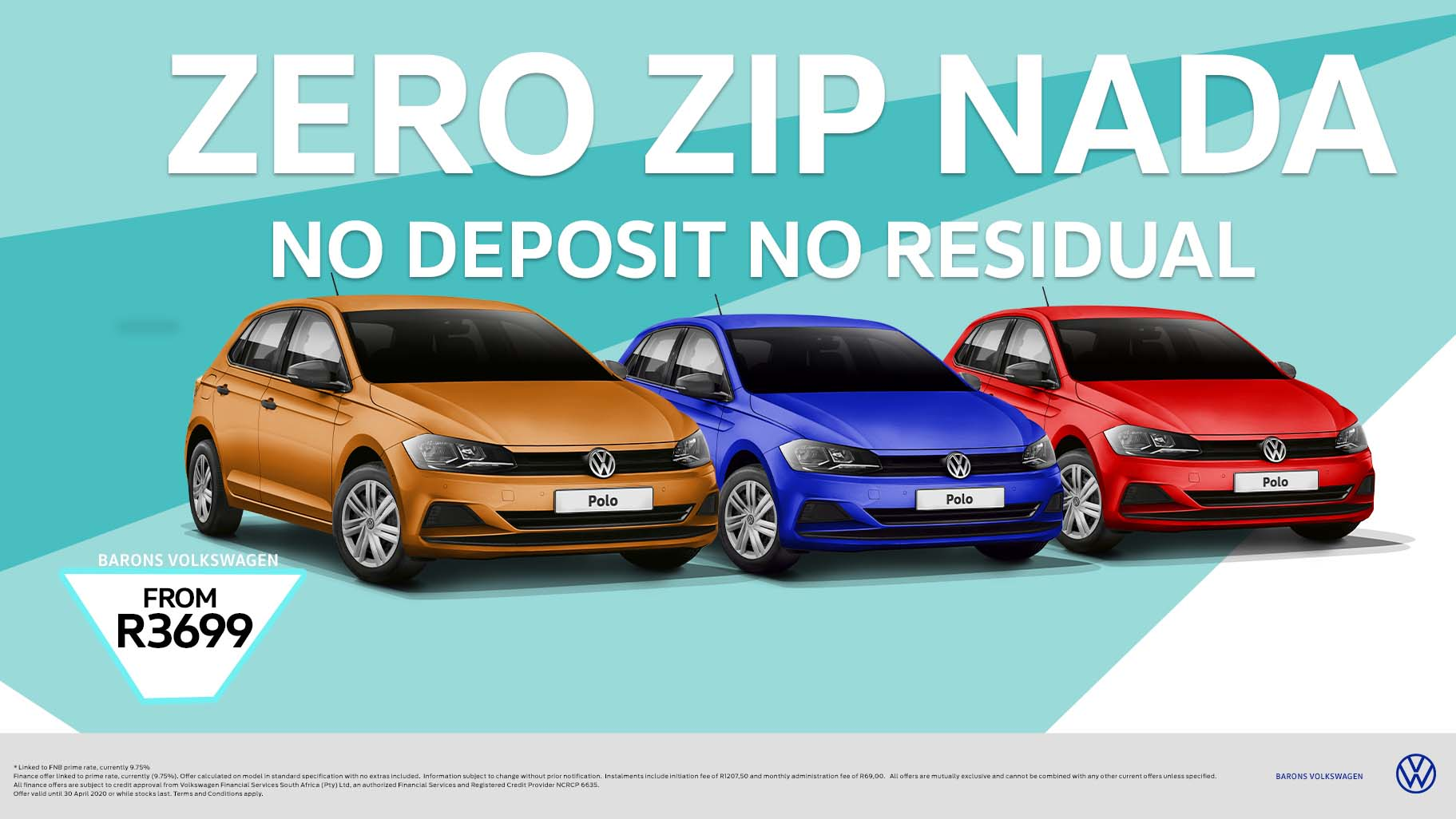 Barons Durban VW no deposit Polo car offer