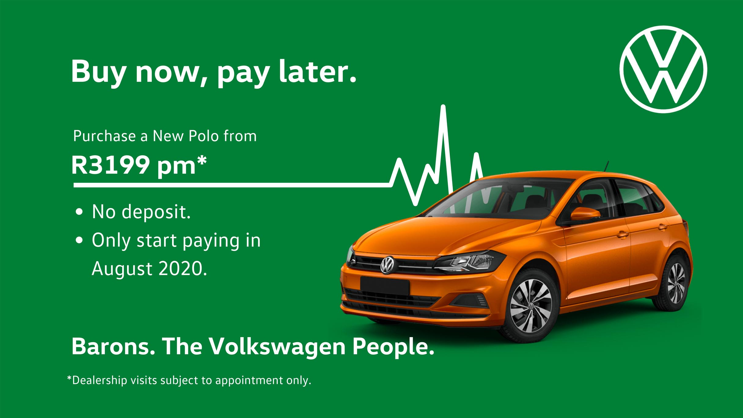Barons Durban Polo VW Pay later offer