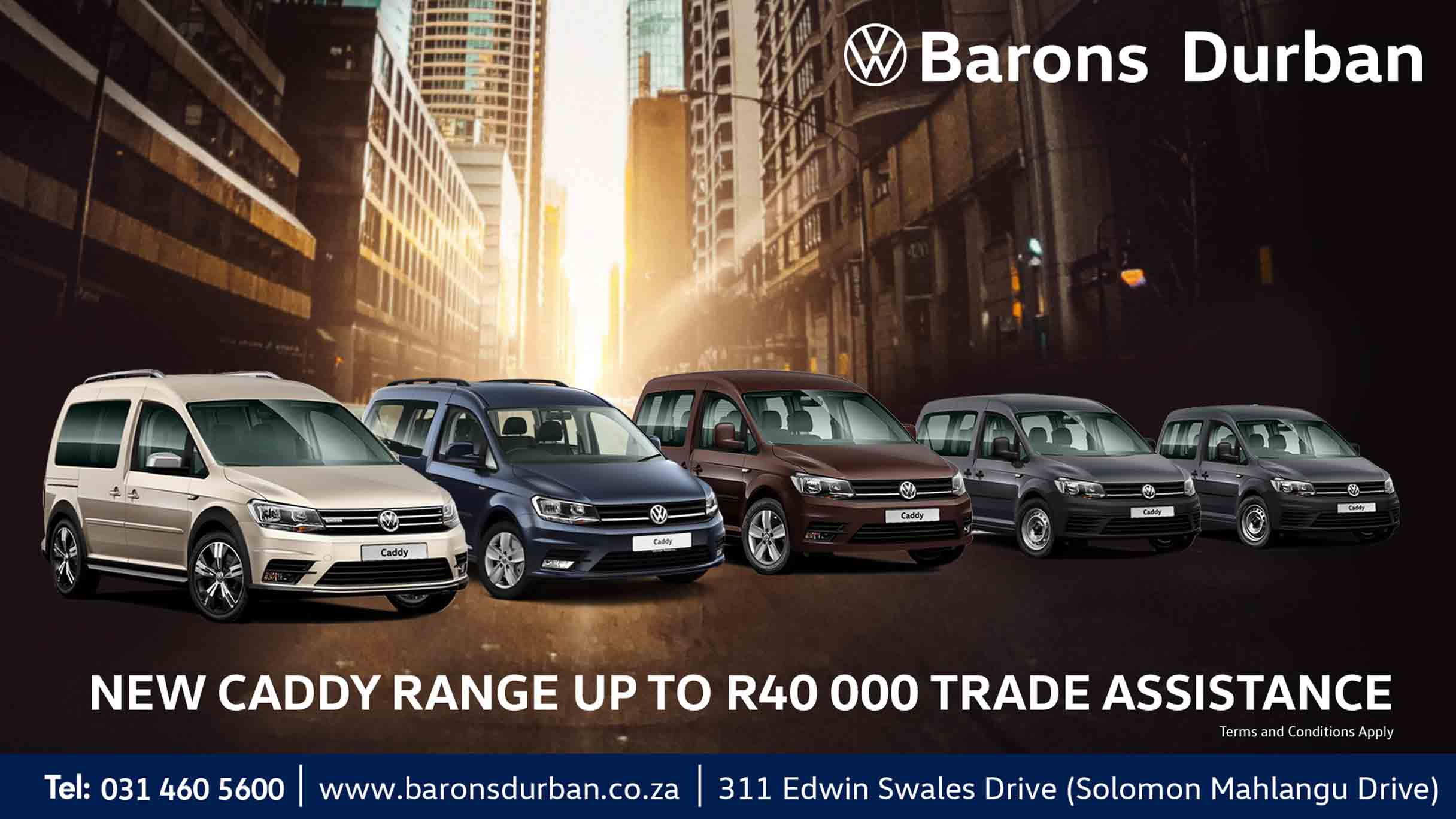 VW Caddy offer at Barons Durban