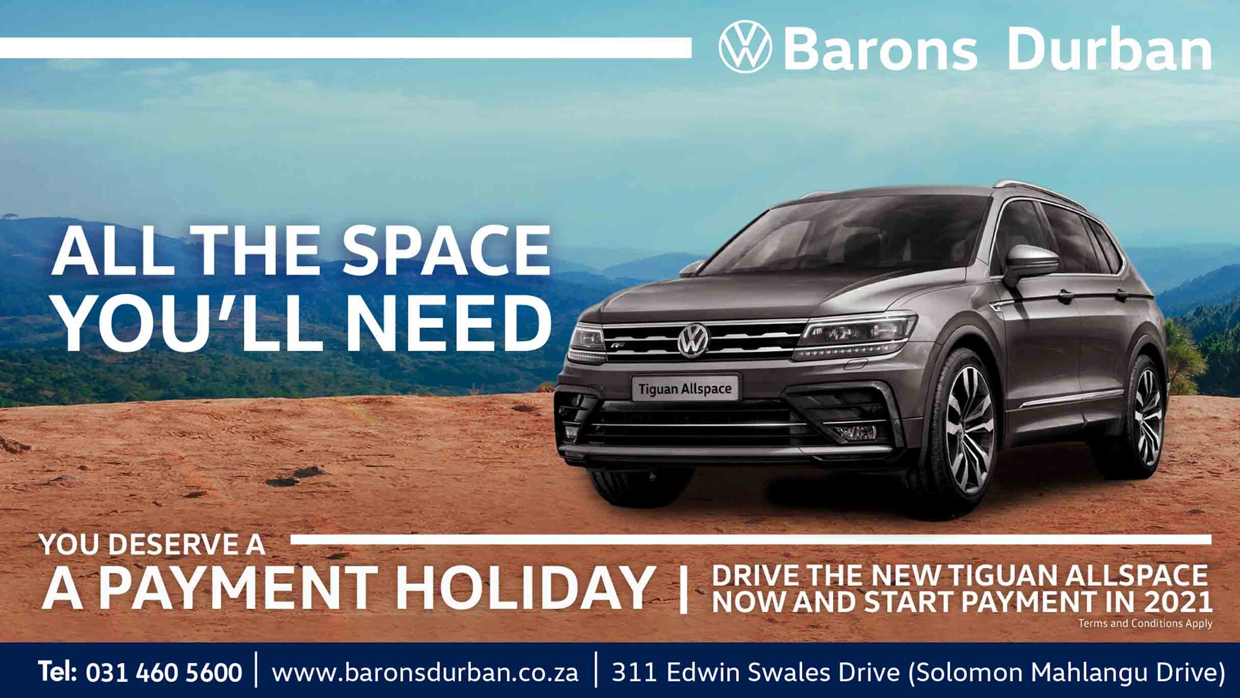 VW Tiguan Allspace offer at Barons Durban