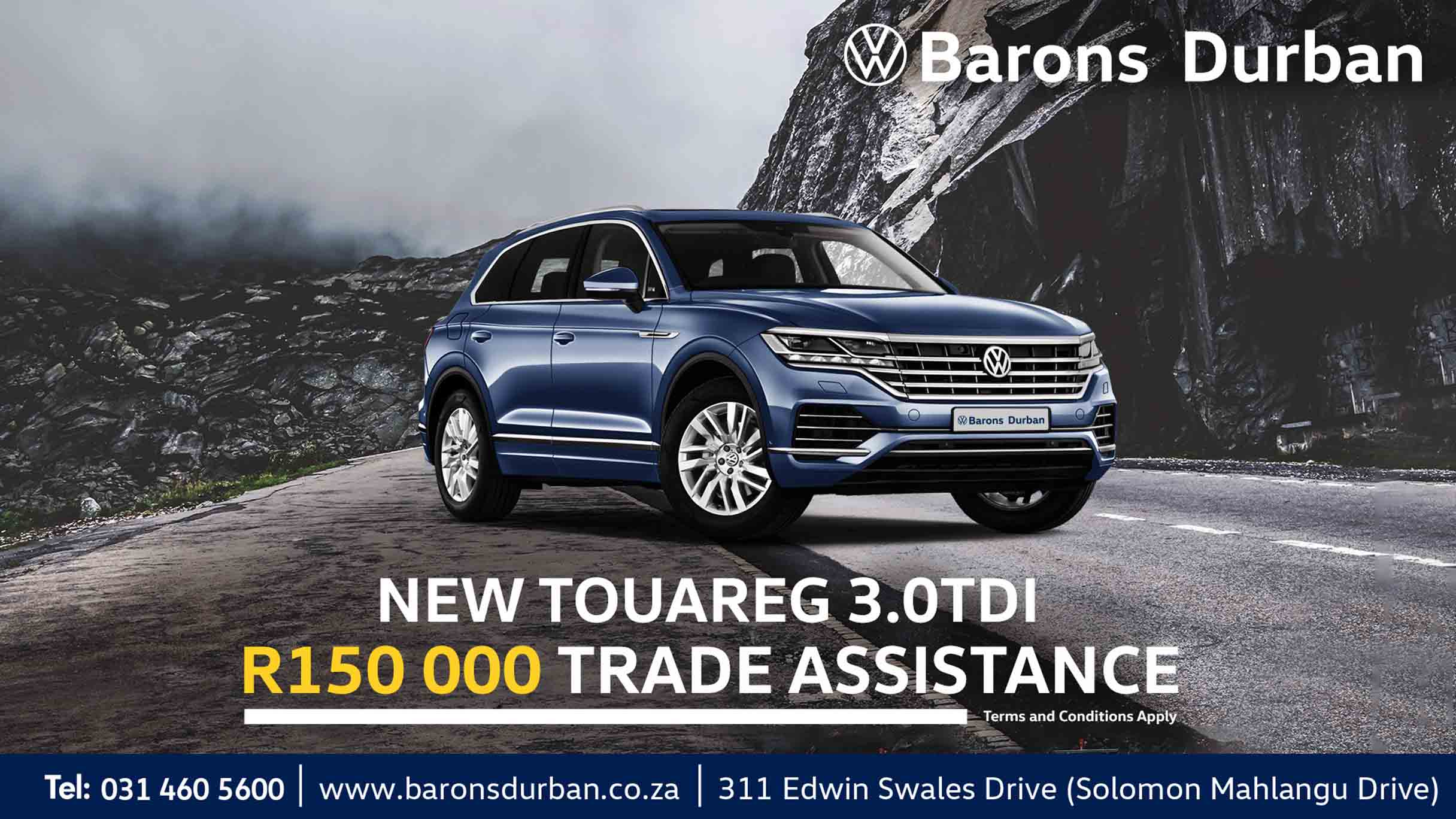 VW Touareg offer at Barons Durban